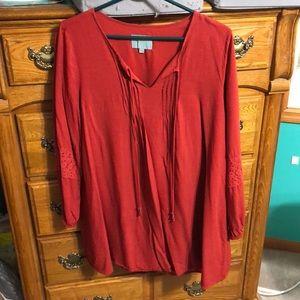 A long sleeve dress